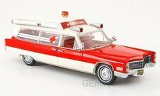 NEO 43898 - Cadillac S & S ambulance rouge/blanc - 1966    1/43
