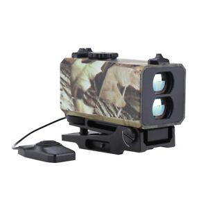 Hunting Range Finder Riflescope Laser Sight Meter Speed Fog Measurer W/ Mount