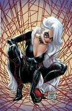 "SDCC 2019 EXCLUSIVE J SCOTT CAMPBELL BLACK CAT VARIANT ""F"" VIRGIN VARIANT COVER"