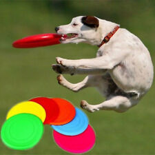 Pet Indestructible Strong Silicone Flying Disc Dog Chew Toy Frisbee Durable x1