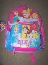New Disney Princess Backpack & Lunch Bag ~ Pink ~ Ariel Cinderella Rapunzel ~