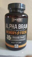 90 Caps, Sealed, Onnit, Alpha Brain, Memory & Focus