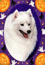 Japanese Spitz Halloween Howls Flag