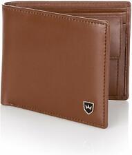 Kronenschein® Geldbörse Herren Leder RFID Braun Portemonnaie