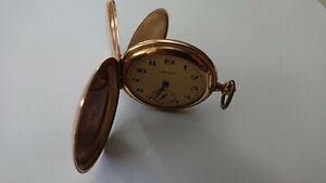 Taschenuhr von 1928, DRUSUS, Gold Double, Uhr funktioniert