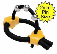 Bipolar 6mm & 4mm conductive rubber loops / TENS / estim / electrode