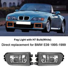 Clear Lens Bumper Driving Fog Lights w/ H7 Wthie For BMW E39 528i 540i Z3 97-00