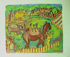 Helen Malta (1912-1975) Vintage Serigraph of Circus Animals & Riders