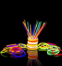 100 resplandor en oscuro resplandor palos para Pulseras Pulseras Collar partido concierto