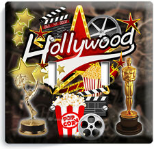 HOLLYWOOD TV ROOM HOME MOVIE STARS THEATER 2 GANG LIGHT SWITCH WALL PLATES DECOR