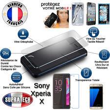 Protection d'Ecran en Verre Trempé Contre les Chocs pour Sony Xperia X