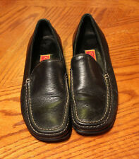 COLE HAAN Womens size 7B Driver Moc Loafer Black Leather D10249