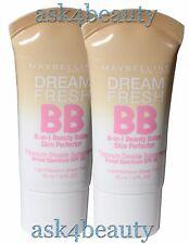 Lot of 2 Maybelline Dream Fresh BB Cream 8-in-1 Beauty Balm Light/Medium N&U