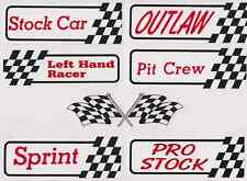 Cross Flag Set of Official Racing Decals   BP17  stock pit sprint left out pro