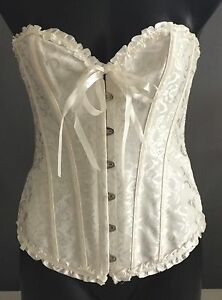 Hire or Buy NWOT  Ivory White  Corset Bustier Lingerie Size M 12