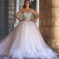 New white/ivory Wedding Dress Bridal Gown Custom Size: 6 8 10 12 14 16 18 20