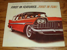 Original 1959 Plymouth Station Wagon Sales Brochure 59 Sport Custom Suburban