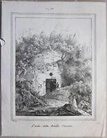 1837ca ANTRO DELLA SIBILLA CUMANA Magazzino Pittorico Universale Cuma Bacoli