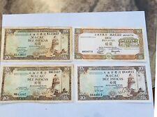 Assorted Macau 10 Patacas Notes VG-UNC (4)
