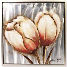Leinwand Öl Gemälde Blume Metall RahmenWand Deko Geschenk Zeitgenössische Maler