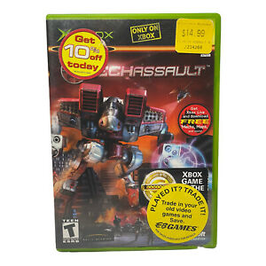 Mech Assault (Microsoft Xbox, 2002) Complete w/ Manual TESTED Working