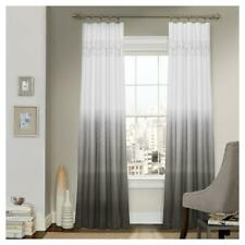 "Vue Signature Arashi Ombre Embroidery Curtain Panel Gray 52"" x 95"" Single Panel"