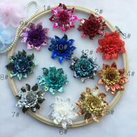 1 piece 3D Flower Applique Shimmer Sequin flower Patch for Craft Projects
