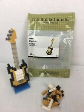 NANOBLOCK ELECTRIC GUITAR YELLOW MICRO SIZED BUILDING BLOCKS NBC 023 160 PIECES