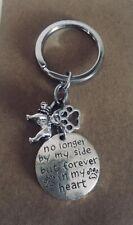 Key Ring- Pet Memorial Keepsake - Pet / Bulldog Loss - No Longer By My Side