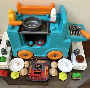 Mega Bloks FOOD TRUCK Kitchen Grill Pan 1st Builders Children's Preschool Toy