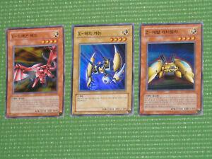 YuGiOh XYZ Card Set -  X-Head Cannon / Y-Dragon / Z-Metal Tank (Korean OCG)