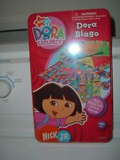 New Sealed Dora The Explorer Friends Bingo Game Metal Tin Nick Jr Ages 4+ #71059
