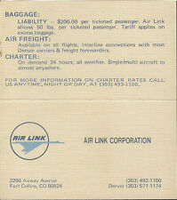 Air Link system timetable 3/1/81 [5125] (buy 2 get 1 free)