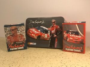 NASCAR PLAYING CARDS DECKS POKER 88 DALE EARNHARDT JR BUSCH SERIES TIN CASE 2002