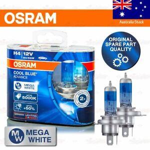 OSRAM COOL BLUE ADVANCE Headlight Bulbs 5000K MEGA WHITE H4 12V 60/55W LOW BEAM
