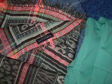 Pañuelo fular pañuelo leopardo lince tigre rombo rosa gris verde azul grand fino