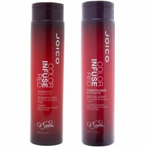 JOICO Color Infuse RED Shampoo & Conditioner Combo To Revive RED Hair 10.1 Oz.