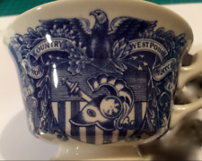 UNITED STATES MILITARY ACADEMY, WEST POINT, WEDGWOOD CUP, blue and white.