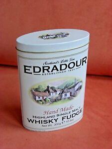 "leere EDRADOUR Blechdose ""WHISKY FUDGE"" oval Bonbon - Dose aus Blech"