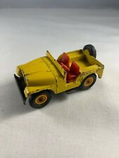 MATCHBOX SERIES #72 YELLOW JEEP DIECAST BY LESNEY MADE IN ENGLAND
