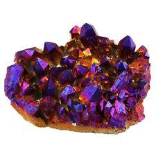 Natural Amethyst Crystal Cluster Geode Quartz Titanium Purple Stone Gem Specimen