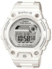 Casio Baby-G Ladies 200M Water Resist White Alarm Sports Watch BLX-100-7ER