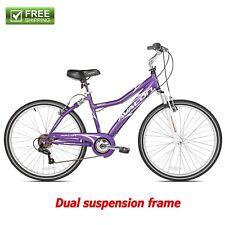 """Next Comfort Bike Women's Purple 26"""" Full Suspension Cruiser Bicycle Shimano New"""
