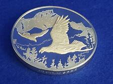 Sterling Silver Franklin Mint Calendar/Art Medal Ted Blaylock Soaring Eagle 296g