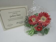 Lenox Figurine Flower Gerbera Daisy Porcelain Hand Painted Mint In Box Coa