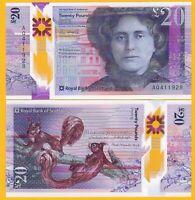 Scotland 20 Pounds p-new 2020 Royal Bank of Scotland UNC Polymer Banknote