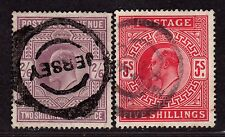 $Great Britain Sc#139-40 used, partial set, Jersey cancel, Cv. $375