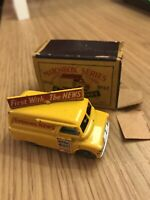 VINTAGE AND ORIGINAL MATCHBOX LESNEY MOKO BEDFORD EVENING STANDARD VAN VGC BOXED