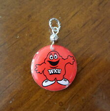 WESTERN KENTUCKY UNIVERSITY HILLTOPPERS BIG RED PENDANT charm necklace jewelry