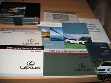 2006 LEXUS RX400h RX 400h HYBRID OWNERS MANUAL SET +NAV